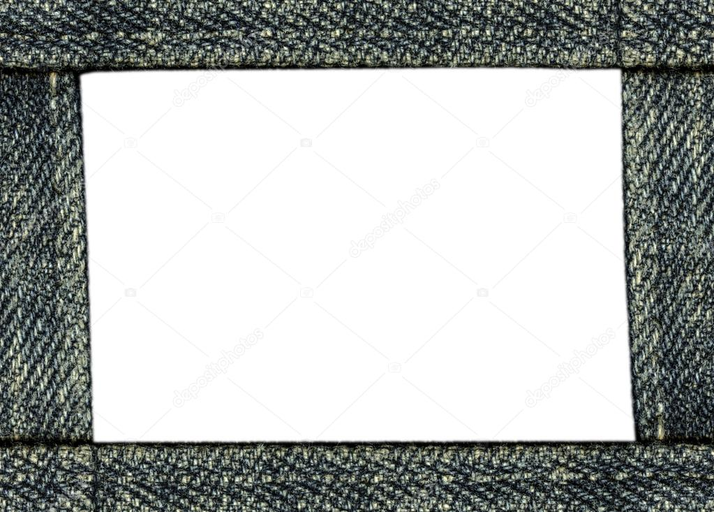 marco de fotos hecho de material de dril color gris-azul — Fotos de ...