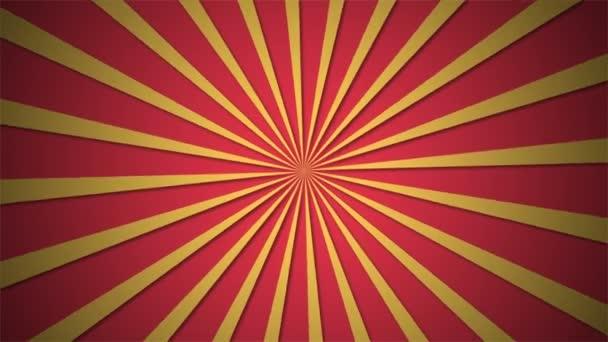 Jednoduchá rotující sun ray animace. Ultra Hd video fotage s alfa kanálem
