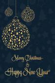 Šťastný Nový rok a veselé Vánoce. Koncept dovolené. Šablona pro pozadí, nápis, pohlednice, plakát s textem. Vektorová ilustrace EPS10.