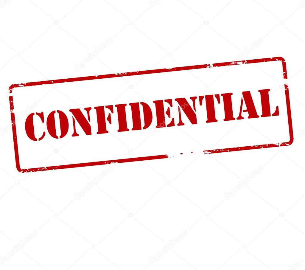 Confidential Red Stamp Stock Illustration