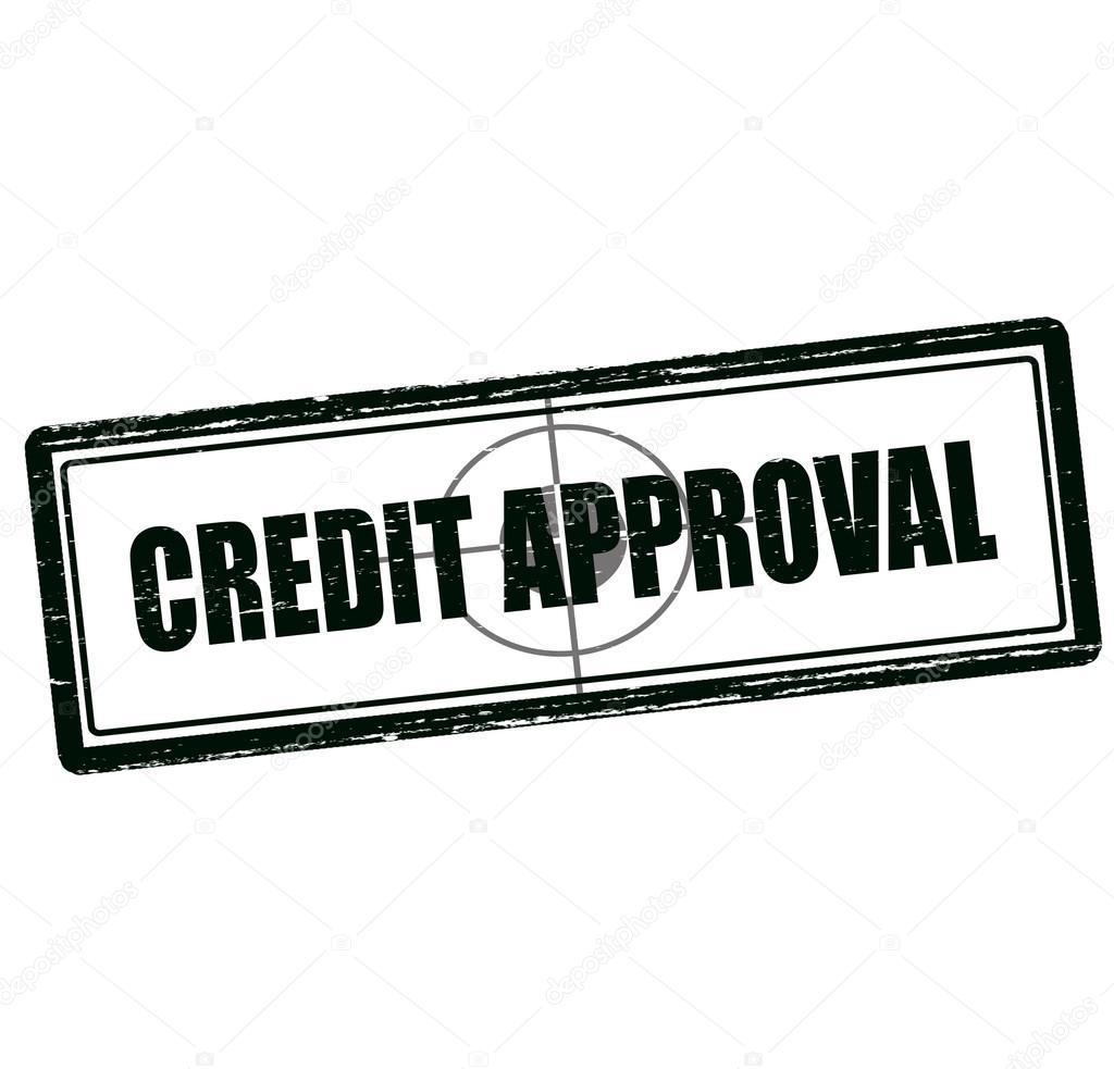 credit approval stamp stock vector carmenbobo 104897636