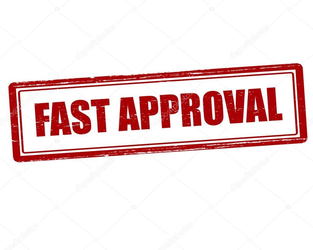 fast approval stamp stock vector carmenbobo 105903276