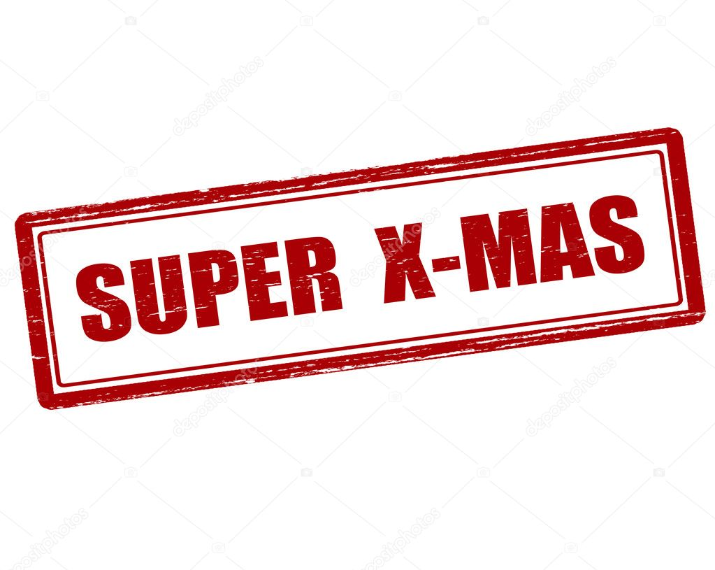Super Weihnachts-Stempel — Stockvektor © carmenbobo #111567628