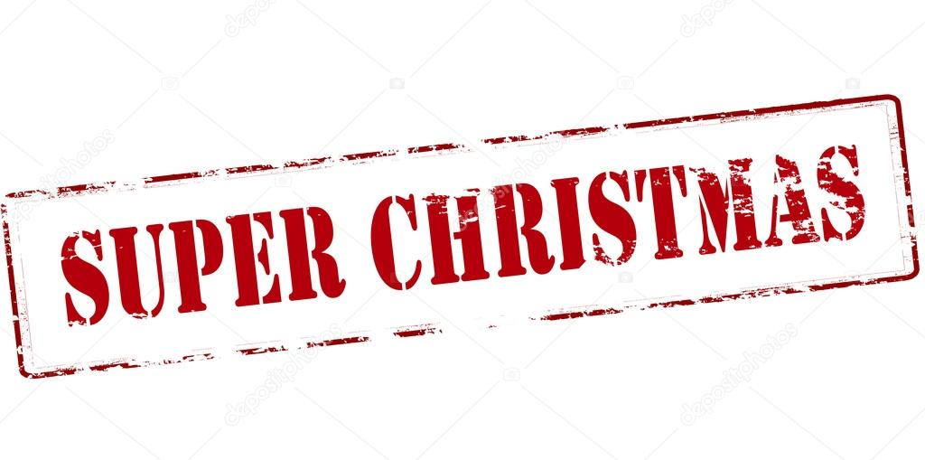 Super Weihnachts-Stempel — Stockvektor © carmenbobo #111654284