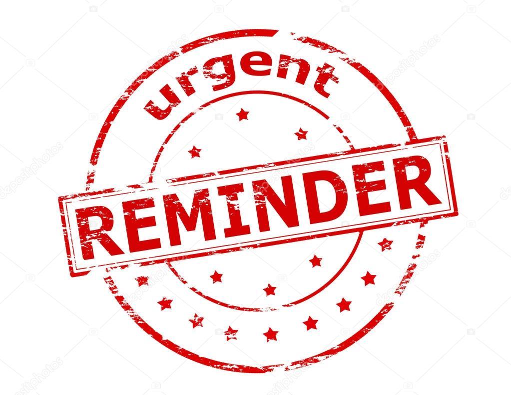 urgent reminder stock vector  u00a9 carmenbobo 74466215