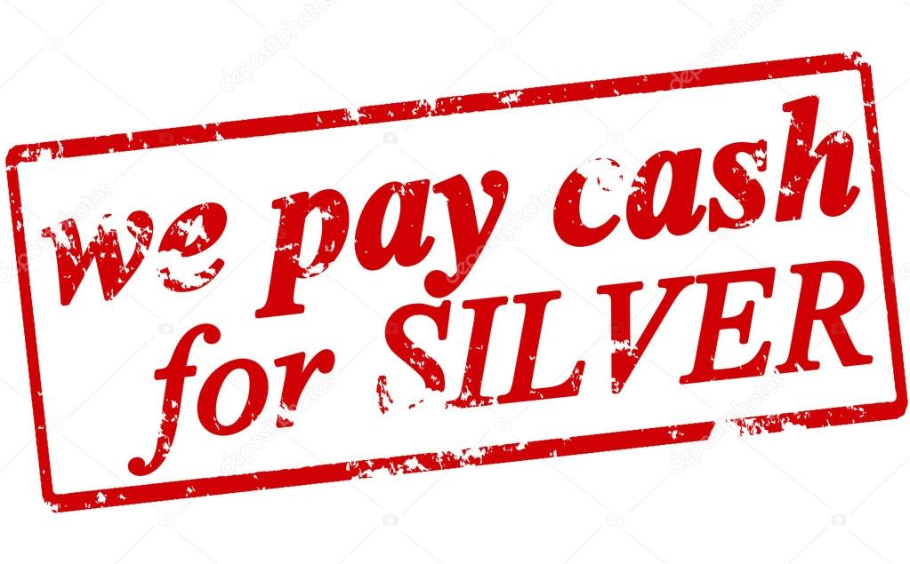 We pay cash for silver — Stock Vector © carmenbobo #87638354