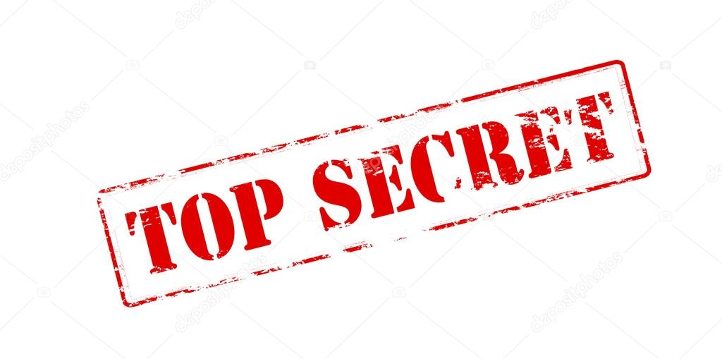 Top Secret Stamp Stock Vector