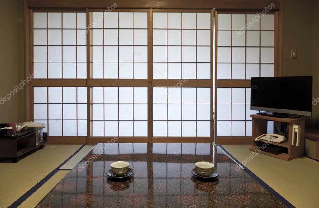 chambre japonaise traditionnelle dans le style traditionnel ...