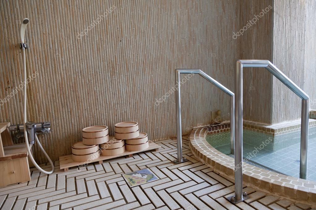traditional Japanese bath in some random Japanese resort — Stock ...