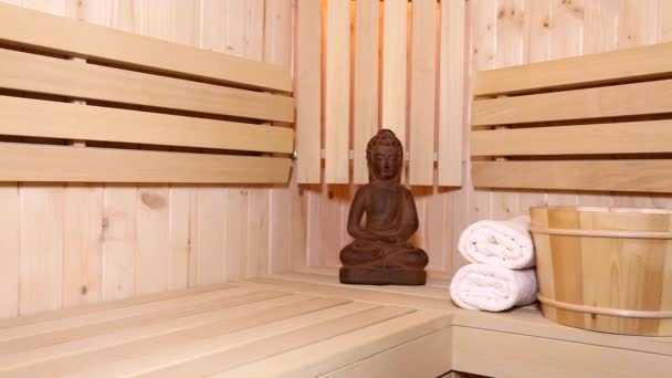 Sauna Fayurveda Symbols For Relaxation And Inner Beauty Ootage Stock Video