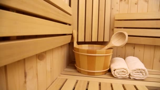Spa- und Wellness-Accessoires in der Sauna