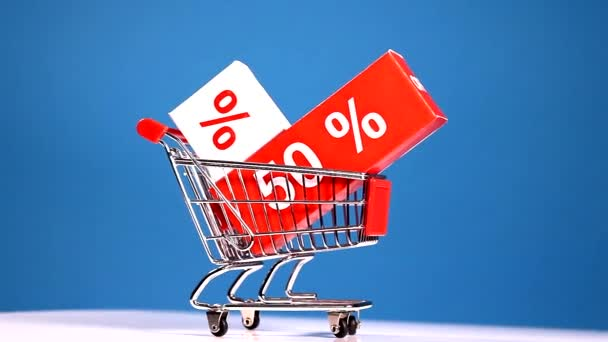 Rolling shopping cart,sale concept