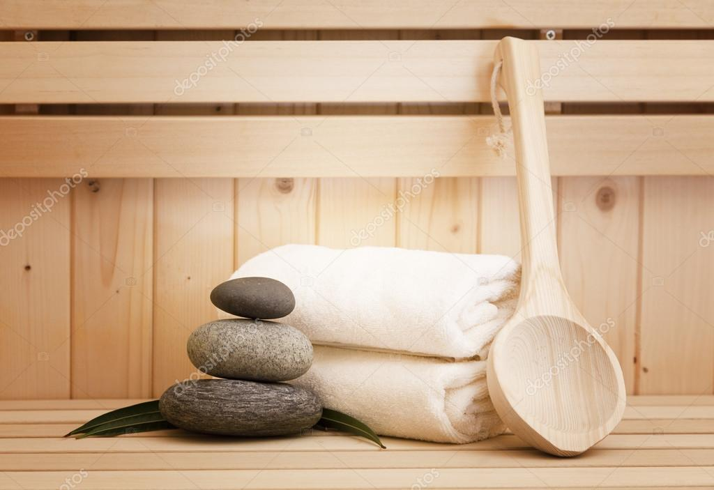 Finse Serene Woonkamer : Finse sauna welness en spa accessoires u2014 stockfoto © lusia83 #62146515