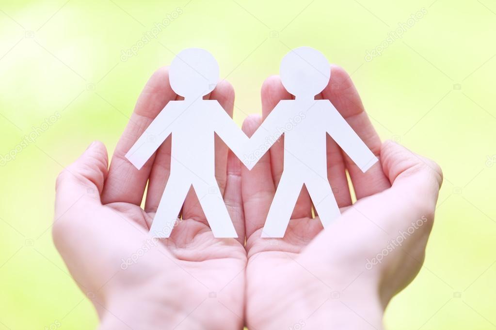 orgullo gay y el concepto de amor - cerca del símbolo de la feliz ...