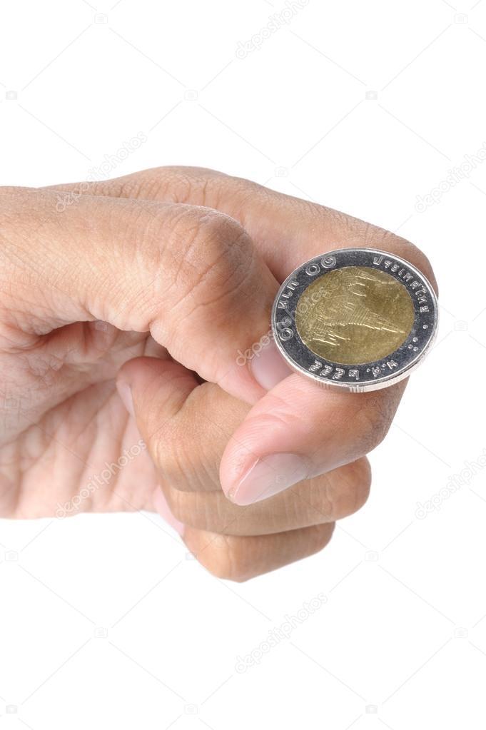 Wirf Die Münze Stockfoto Norgallery 67120233