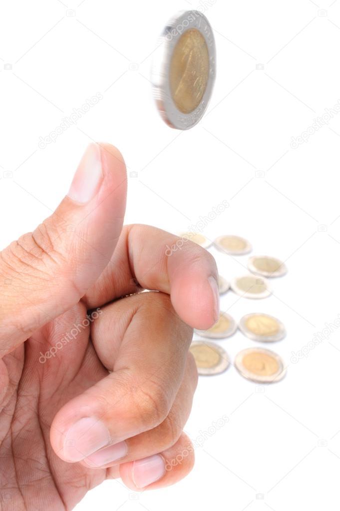 Wirf Die Münze Stockfoto Norgallery 67120255