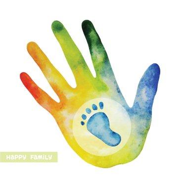 Family logo - hand and footprint.