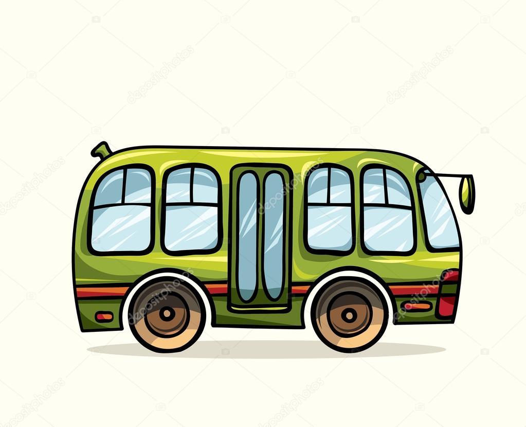 Kresleny Autobus Mhd Stock Vektor C Natuska 86020088