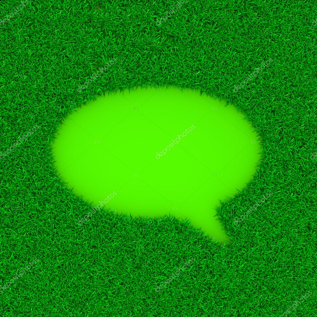 Grass Speech Bubble Symbol Shape