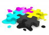 Fotografia puzzle di CMYK