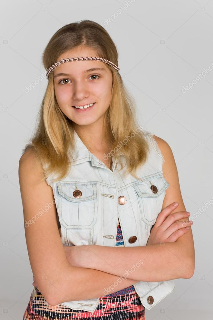 Portrait Of A Blonde Teen Girl