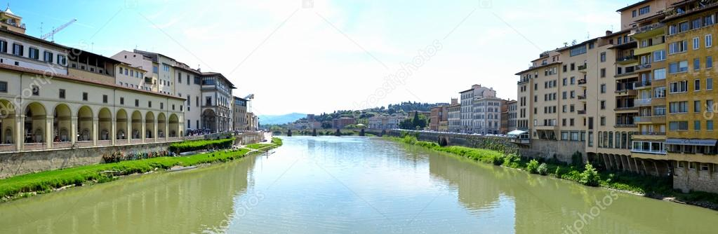 View of the river Arno