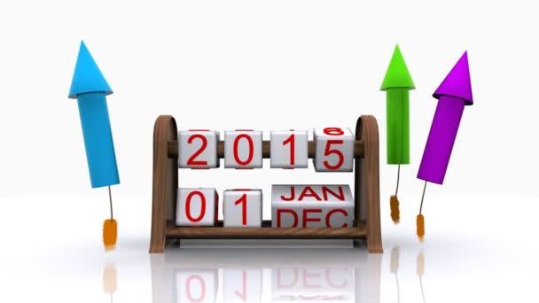 Nový rok 2016 s ohňostrojem