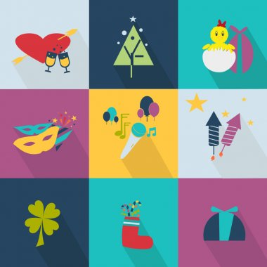 Set of icons for the holiday