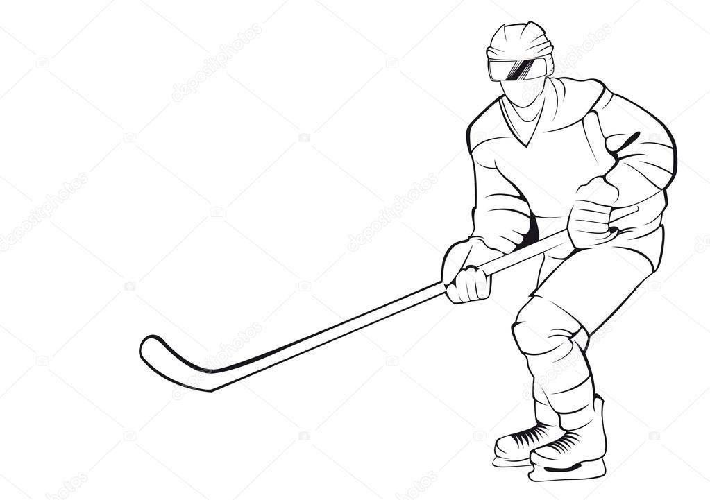 Dibujos: hockey sobre cesped para colorear | Jugador de hockey ...