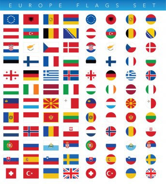 This is a simple, clean and unique set of vectorized Europe countries flags. Full editable and resizable. Good for several projects. icon