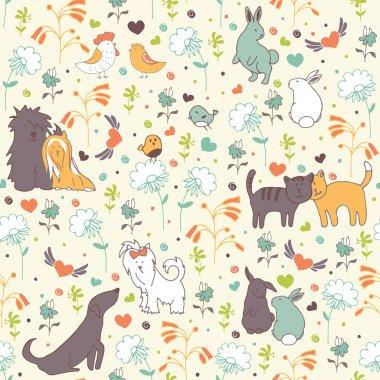 Spring seamless pattern pattern