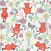 prasata na louce bezešvé pattern