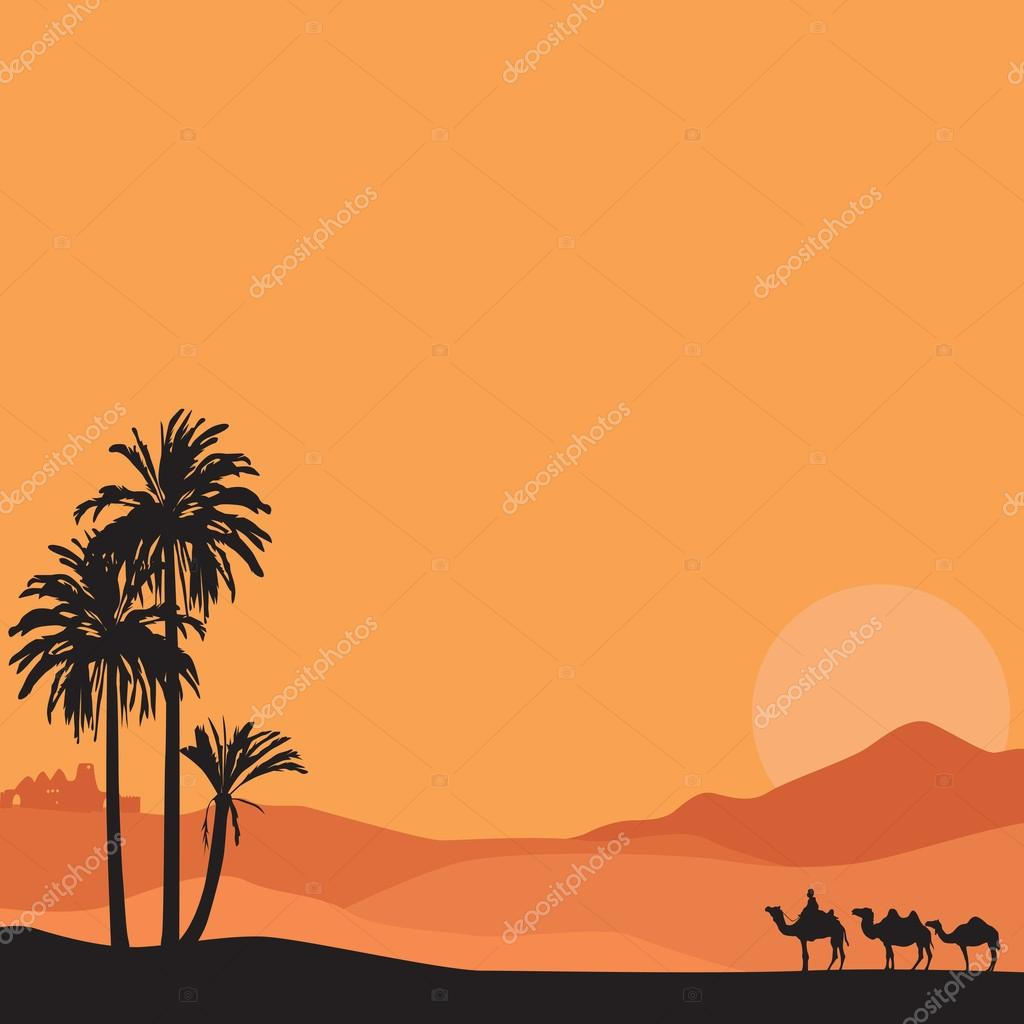 Background with desert