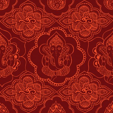 Indian seamless pattern with ornament
