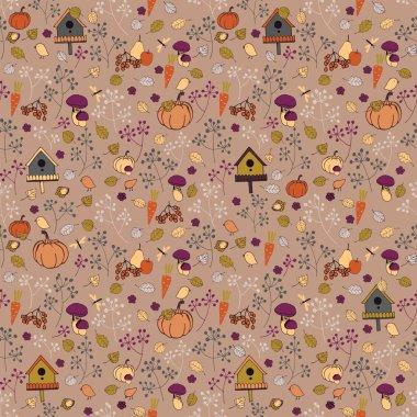 Seamless autumn pattern