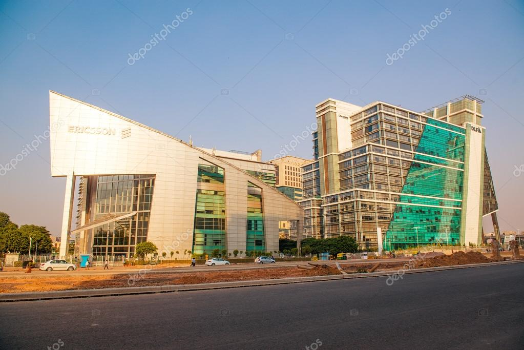 Modern India Office Buildings In Gurgaon Near New Delhi Stock