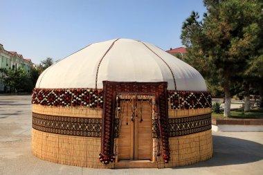Turkmen ethnic nomadic yurt-building, built for the celebration