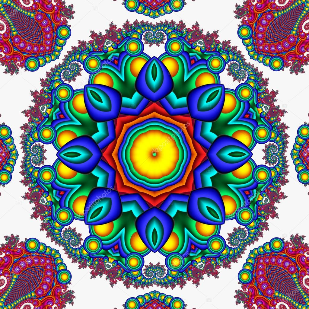 Mandalas De Buhos Coloridos Fondo Colorido Mandala Abstracto Se