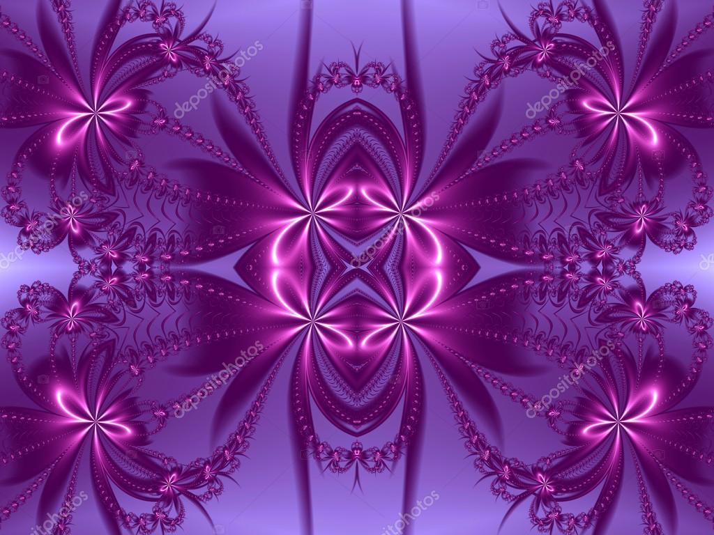 Patr n de flores de dise o fractal gama de colores violeta y morado com fotos de stock - Gama de colores morados ...