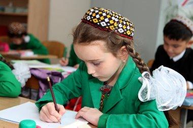 Ashgabat, Turkmenistan - November 4, 2014 .  Portrait of an unkn