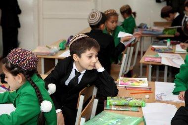 Ashgabat, Turkmenistan - November 4, 2014 A group of students at