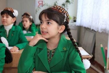 Ashgabad, Turkmenistan - November 4, 2014. Portrait of an unknow