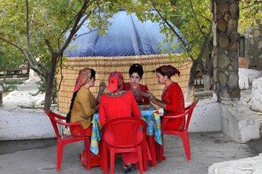 Kov-Ata, Turkmenistan - October 18: Photo unknown Turkmen girls
