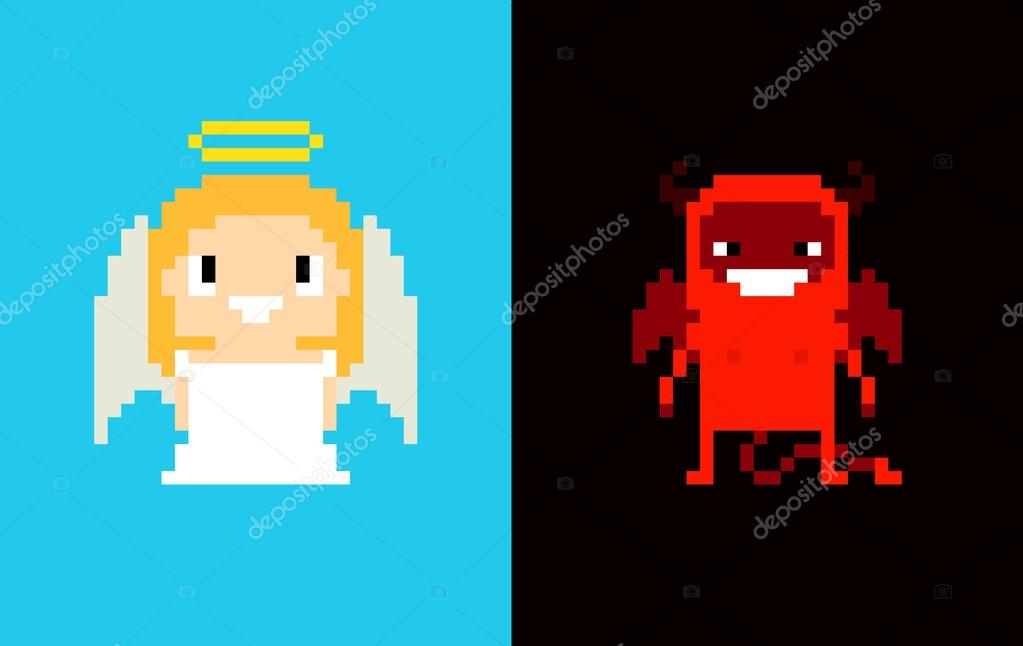 Pictures Demon Pixel Art Pixel Art Angel And Demon