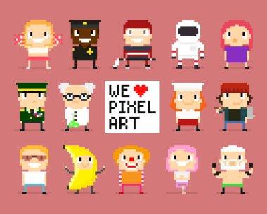 Pixel art characters