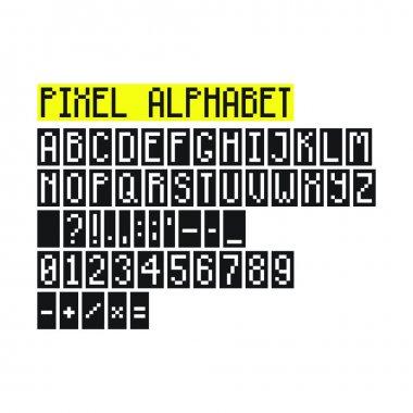 Pixel ABC, font, letters