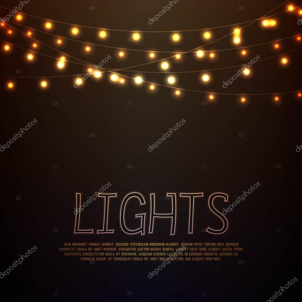 Glowing lights background