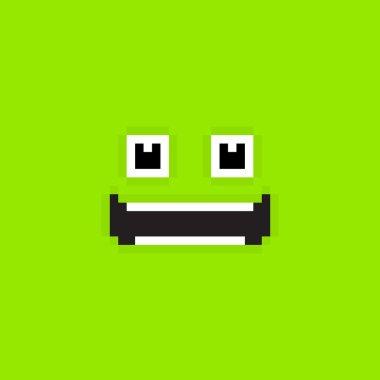 Smiling  Pixel Face