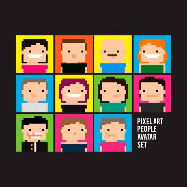 Pixel Avatar, characters icons