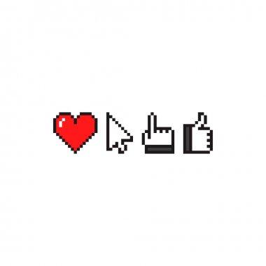 Pixel web, app Icons
